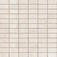 "Purestone 1"" x 2"" Floor and Wall Mosaic in Beige"