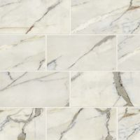 "Classic 2.0 12"" x 24"" x 3/8"" Floor and Wall Tile in Calacatta Oro"