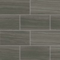 "Highland 12"" x 24"" Floor and Wall Tile in Dark Greige"