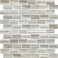 "Zebrino 1"" x 2"" Floor and Wall Mosaic in Bluette"