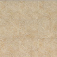 "Eddie 20"" x 20"" x 3/8"" Floor and Wall Tile in Almond"