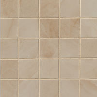"Onyx 2"" x 2"" Floor and Wall Mosaic in Almond"