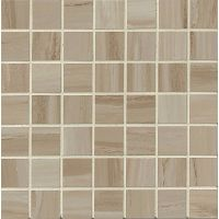 "Rose Wood 1-1/2"" x 1-1/2"" Floor and Wall Mosaic in Beige"
