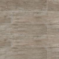 "River Wood 8"" x 36"" x 3/8"" Floor and Wall Tile in Taupe"