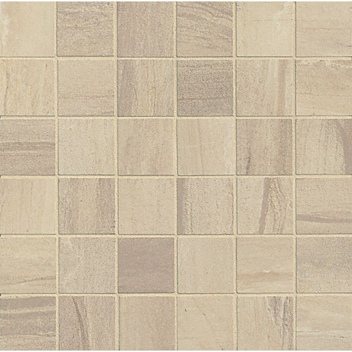 "Athena 2"" x 2"" Floor & Wall Mosaic in Sand"