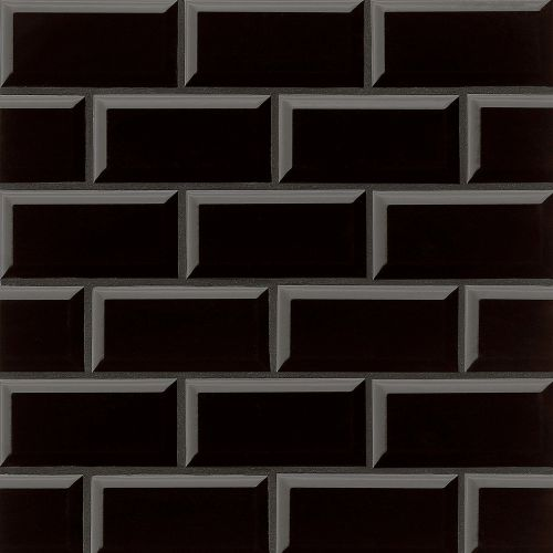 "Traditions 3"" x 6"" Wall Tile in Black"