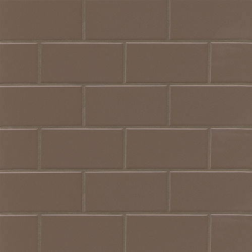 "Traditions 3"" x 6"" Wall Tile in Cocoa"