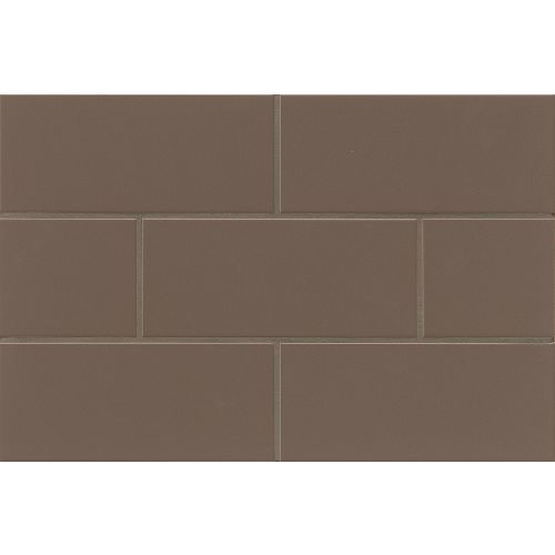 "Traditions 4"" x 10"" x 1/4"" Wall Tile in Cocoa"