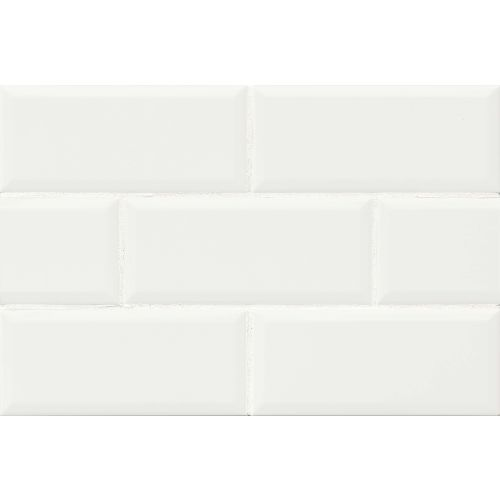 "Traditions 4"" x 10"" Wall Tile in Ice White"