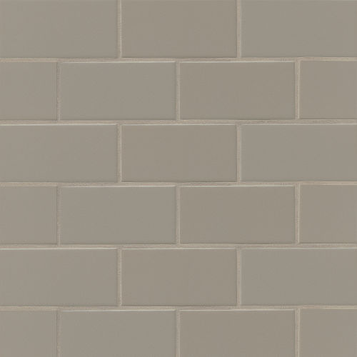"Traditions 3"" x 6"" Wall Tile in Taupe"