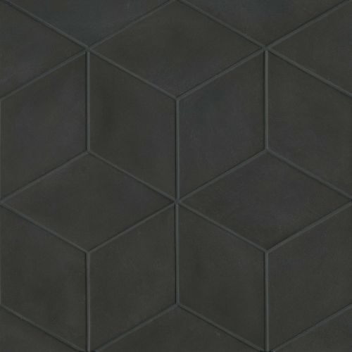 "Allora 7.38"" x 12.75"" Floor & Wall Tile in Solid Black"