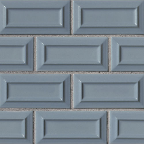 "Costa Allegra 3"" x 6"" Decorative Tile in Adriatic"