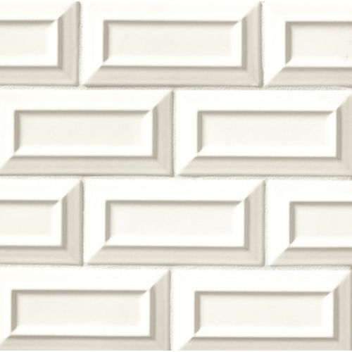 "Costa Allegra 3"" x 6"" Decorative Tile in White Sand"
