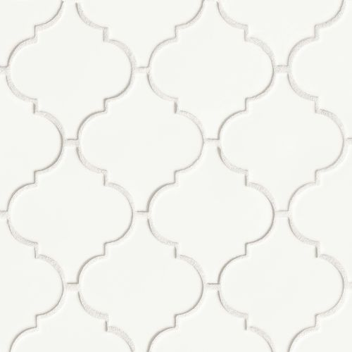 "Costa Allegra 5-1/4"" x 4-5/8"" Floor and Wall Mosaic in White Sand"