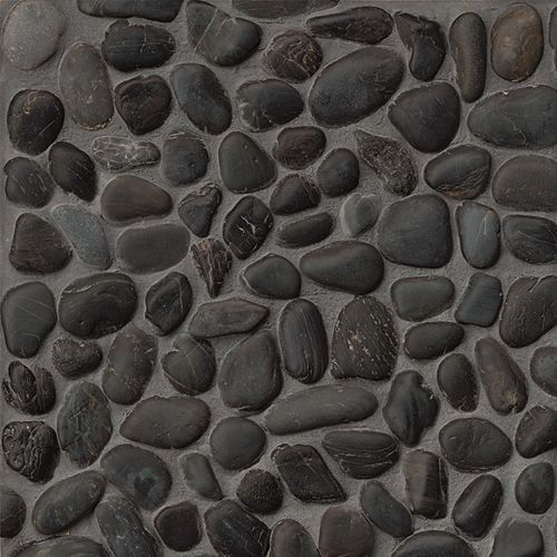 Hemisphere Floor & Wall Mosaic in Panther Black