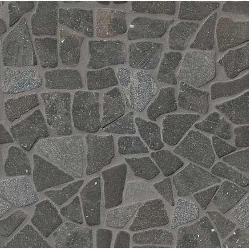 Hemisphere Floor & Wall Mosaic in Black Lava