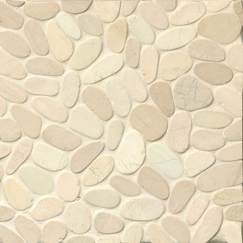 Hemisphere Floor & Wall Mosaic in Bali White
