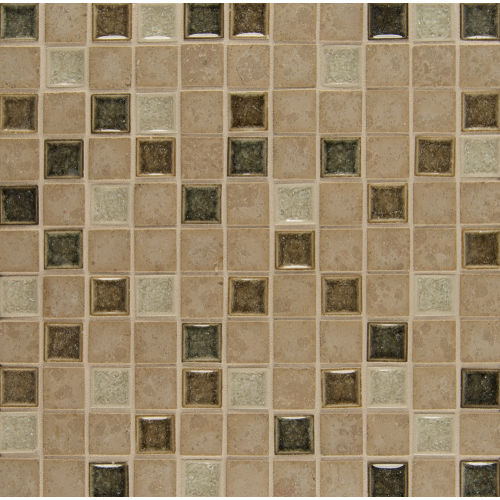 "Kismet 1"" x 1"" Wall Mosaic in Bliss"