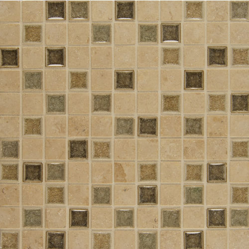 "Kismet 1"" x 1"" Wall Mosaic in Glee"