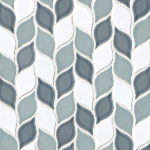 "Provincetown 2-13/16"" x 1-7/16"" Floor and Wall Mosaic in Atlantic Blend"