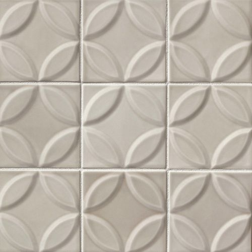 "Provincetown 6"" x 6"" Decorative Tile in Dolphin Grey"