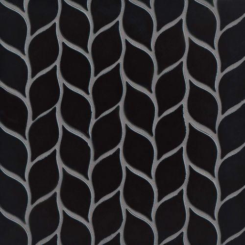 "Provincetown 2-13/16"" x 1-7/16"" Floor and Wall Mosaic in Fleet Black"