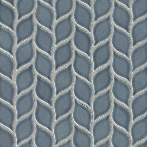 "Provincetown 2-13/16"" x 1-7/16"" Floor & Wall Mosaic in Harbor Blue"