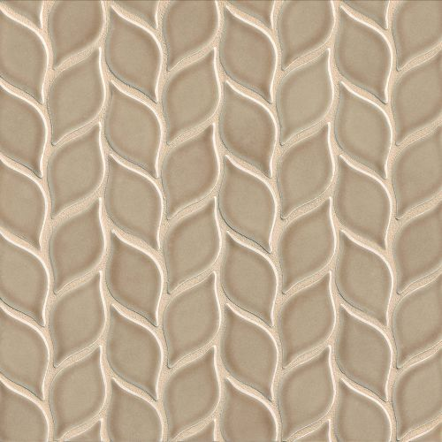 "Provincetown 2-13/16"" x 1-7/16"" Floor & Wall Mosaic in Highland Brown"