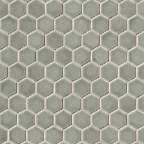 "Provincetown 1-11/16"" x 1-1/2"" Floor & Wall Mosaic in Monument Grey"