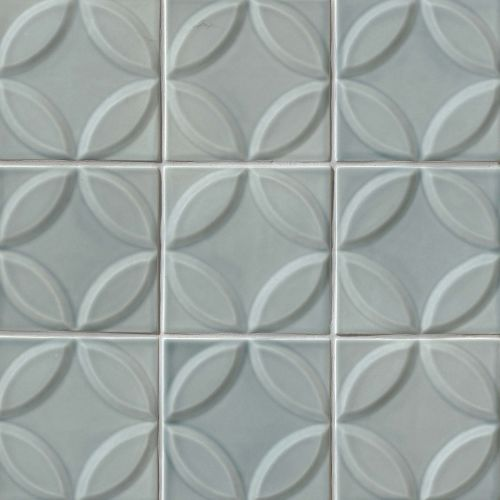 "Provincetown 6"" x 6"" Decorative Tile in Surfside Blue"