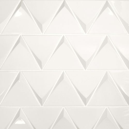 "Triangolo 4.5"" x 5"" Wall Tile in White"