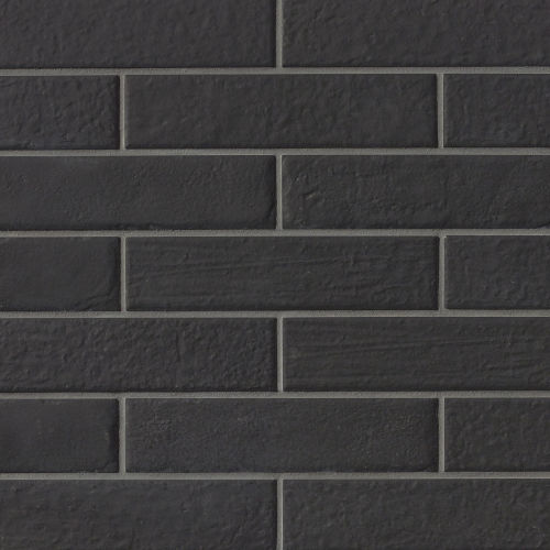 "Urbanity 2.5"" x 10"" Floor & Wall Tile in Black"
