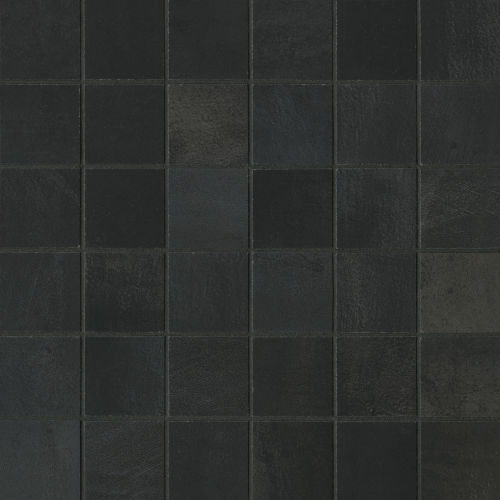 "Chateau 2"" x 2"" Floor and Wall Mosaic in Midnight"