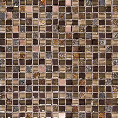 "Elume 5/8"" x 5/8"" Wall Mosaic in Java Bean"