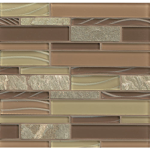 Elume Wall Mosaic in Maple Rum