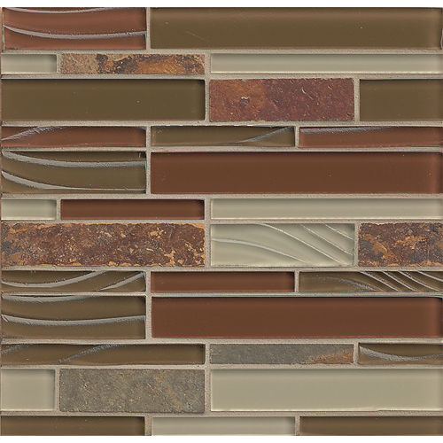 Elume Wall Mosaic in Ruby Silk