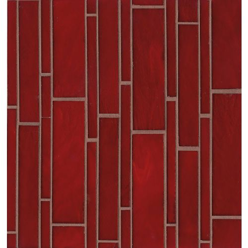 Retrospect Wall Mosaic in Rouge