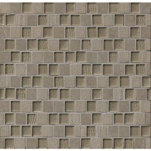 "Tessuto 3/4"" x 1"" Wall Mosaic in Dark Grey"
