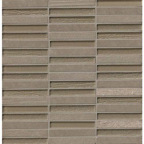 "Tessuto 1/2"" x 4"" Wall Mosaic in Dark Gray"