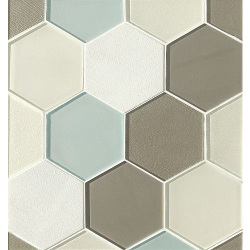 "Verve 4-7/8"" x 5-5/8"" Wall Mosaic in Celestial"
