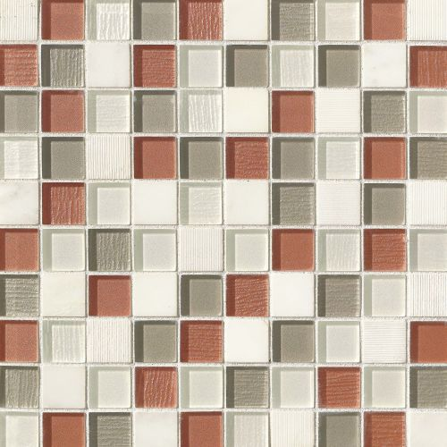 "Verve 1-1/8"" x 1-1/8"" Wall Mosaic in Knockout"