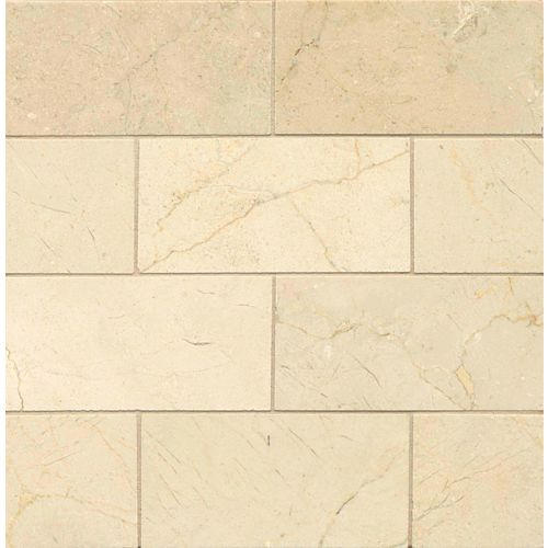 "Crema Marfil Select 3"" x 6"" Floor & Wall Tile"