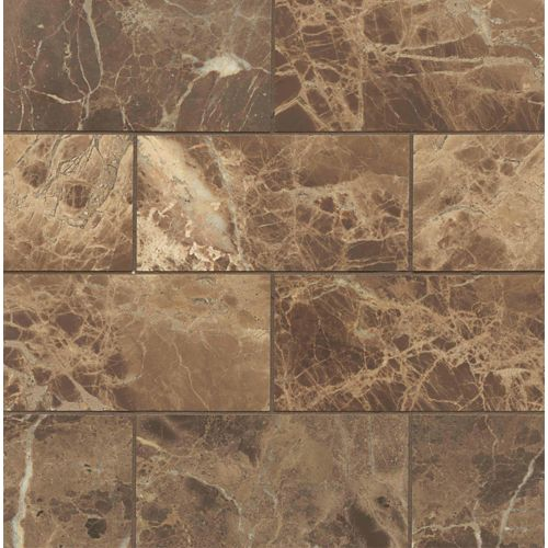 "Emperador Dark 3"" x 6"" Floor & Wall Tile"