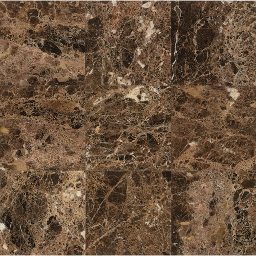 "Emperador Dark 12"" x 12"" Wall Tile"