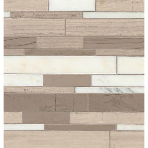 Maison Floor & Wall Mosaic in Penthouse Blend Random Linear