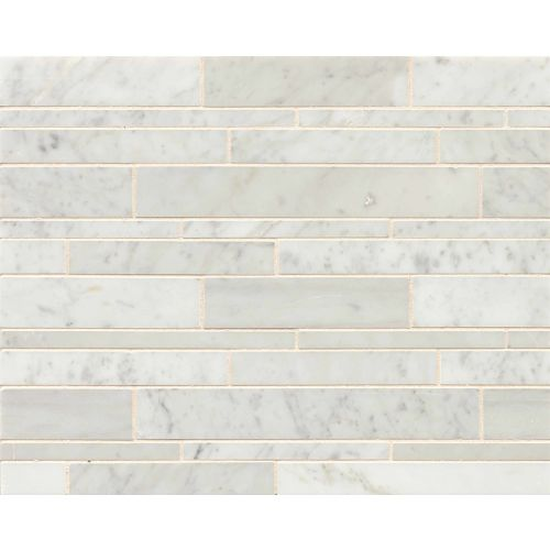 White Carrara Floor & Wall Mosaic
