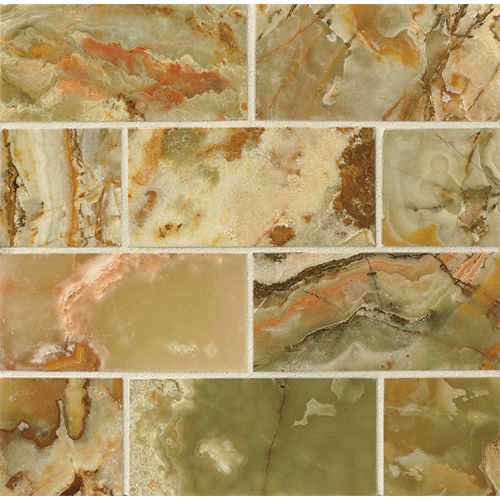 "Palisades Green Onyx 3"" x 6"" Floor & Wall Tile"