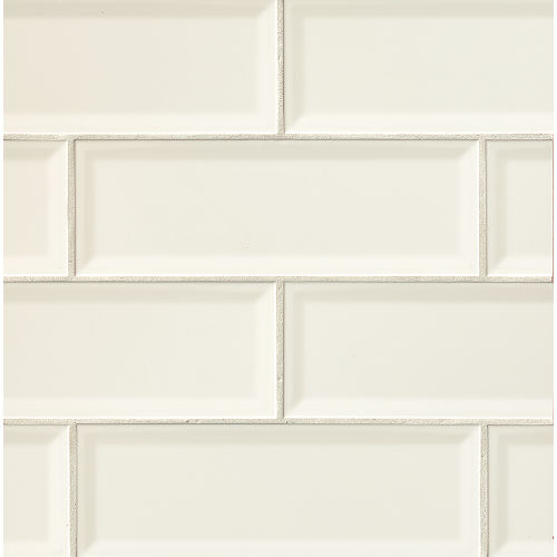 "Adamas 4"" x 12"" Wall Tile in Albus"