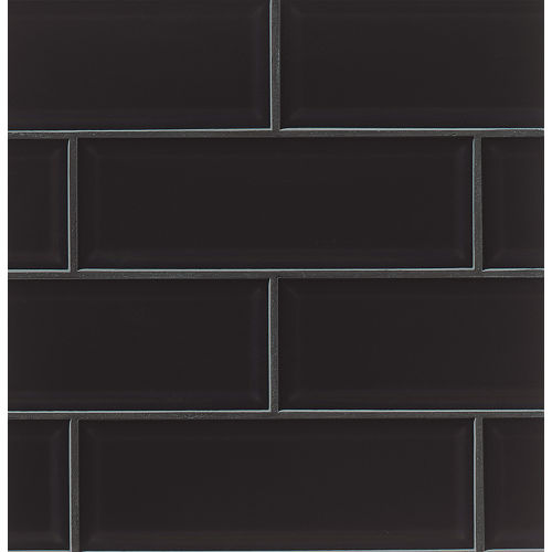 "Adamas 4"" x 12"" Wall Tile in Ater"