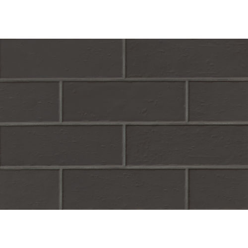 "Aura 4"" x 12"" x 3/8"" Wall Tile in Jet"